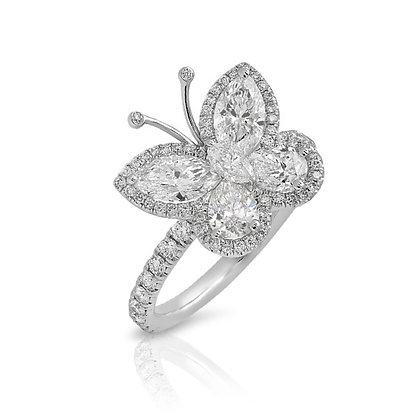 18K DIAMOND BUTTERFLY RING
