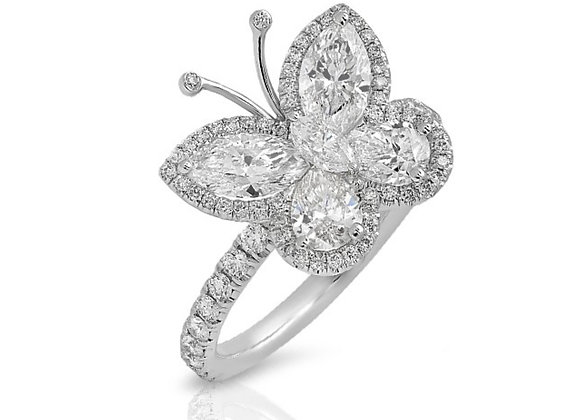 18K DIAMOND BUTTERFLY RING