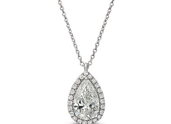 18K PEAR-SHAPE DIAMOND PENDANT