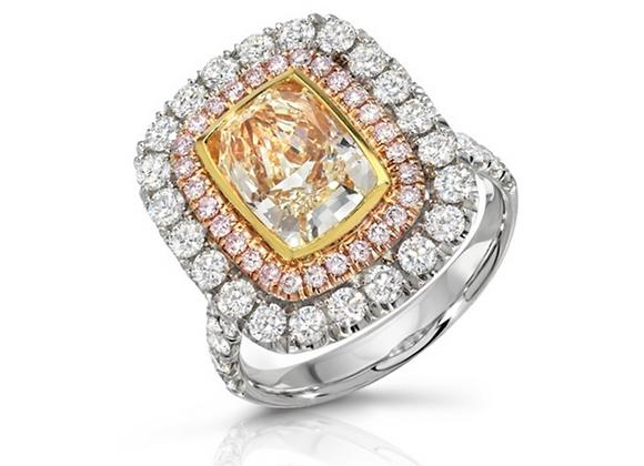 18K FANCY COLOR DIAMOND RING