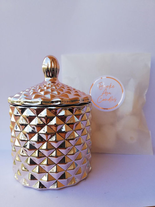 Limited Edition Rose Gold  Luxe Baby Geo and Heart Wax Melts
