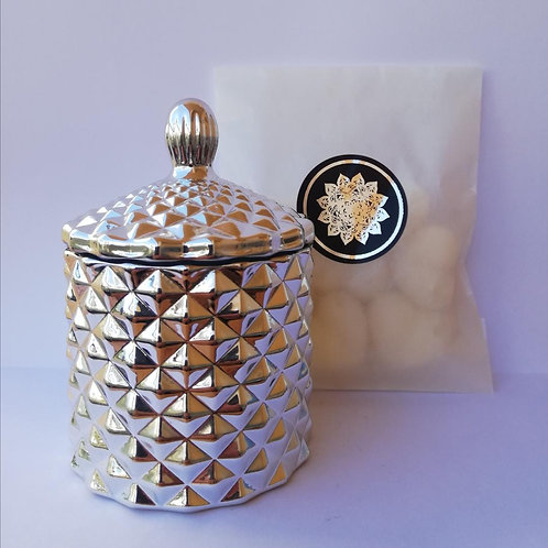 Limited Edition Silver Luxe Baby Geo and Heart Wax Melts
