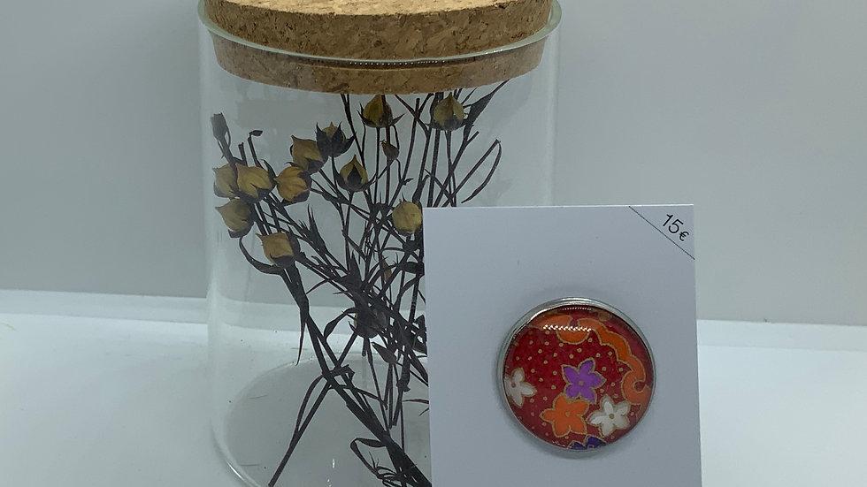 Broche motif fleur
