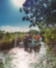 Muyil canales en lancha