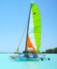 Bacalar catamaran verde