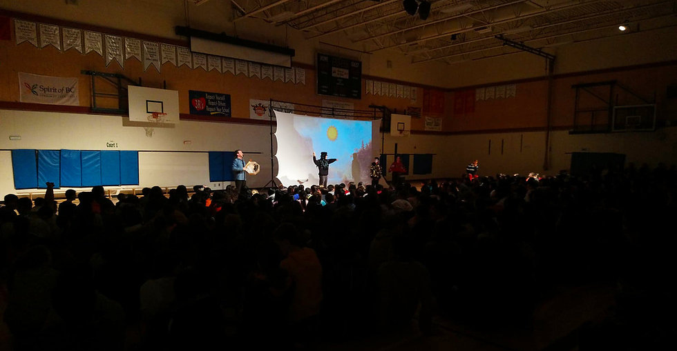 Interactive Indigenous Storytelling Perfromance in Schools: How Raven Stole the Sun
