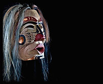 Indigenous Coast Salish Carved Mask