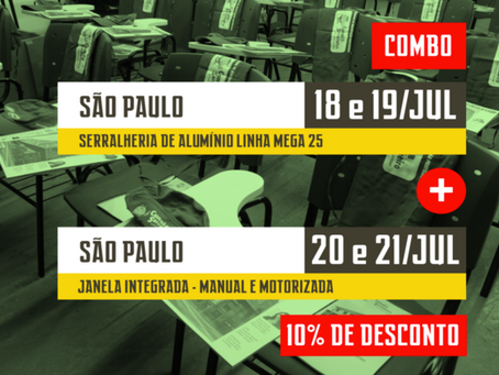 AGENDA: CURSO JANELA INTEGRADA COM 10% DE DESCONTO NO CANAL DO SERRALHEIRO