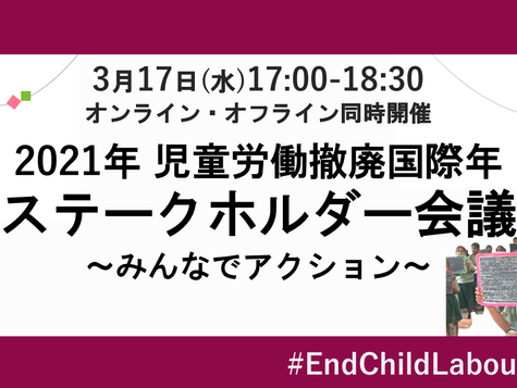 International Year for the Elimination of Child Labour Stakeholder Meeting