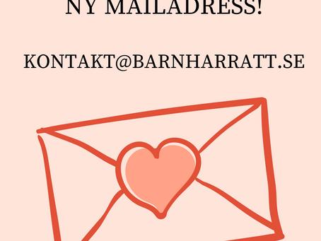 Ny mailadress