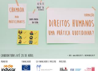 """Candidaturas - Formação em """"Educação para os Direitos Humanos: uma prática quotidiana?"""""""