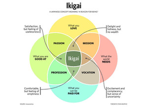 Career Ikigai - Your reason for going to work!