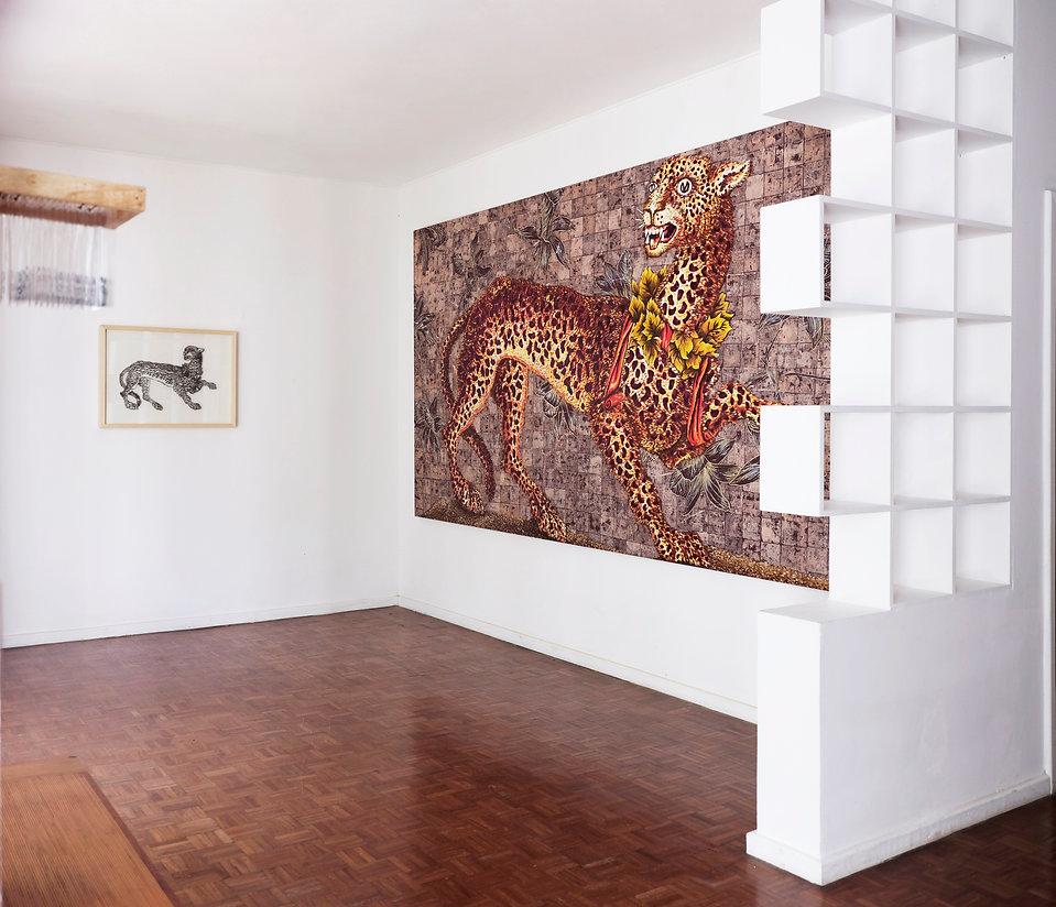 leopard painting art nail metal guepard fosca rio de janeiro casa voa antonio bokel