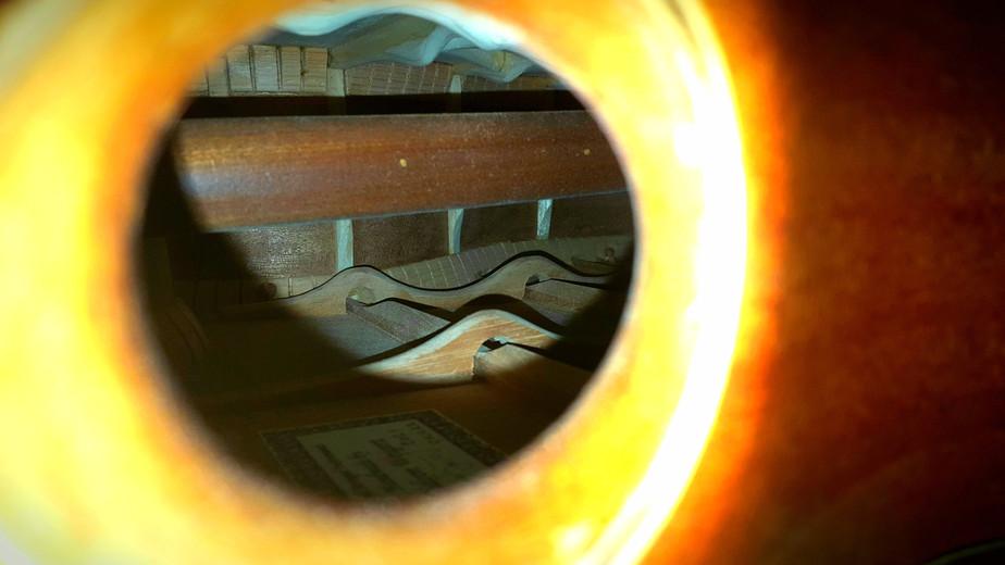 Prototype Subharmonic Acoustic Bass Guitar
