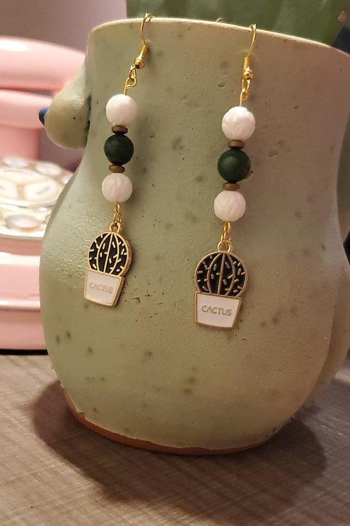 Plant Parent Gold Drop Earrings