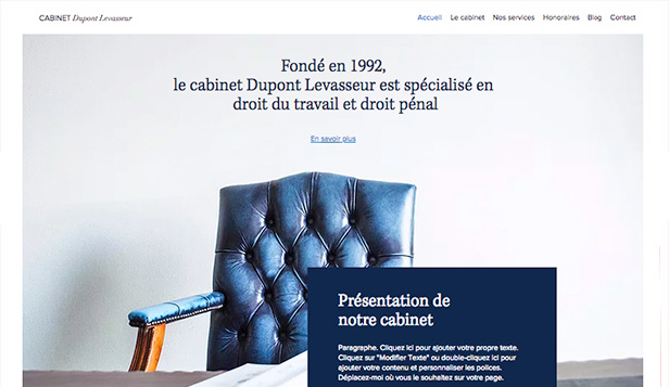Droit et Finance website templates – Cabinet d'avocats