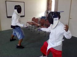 Fencing Class at Summer Program