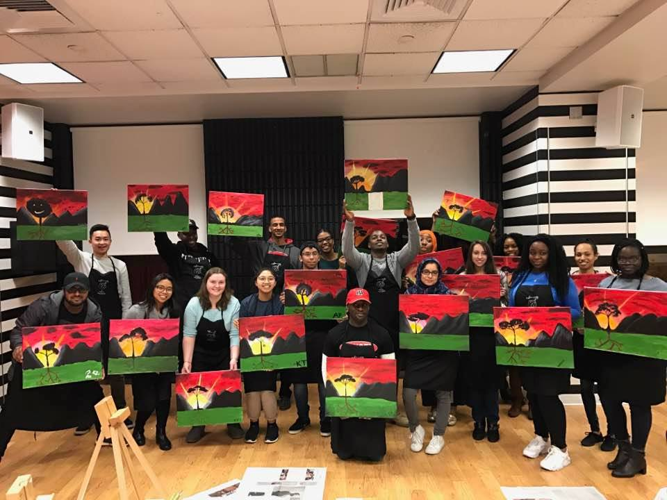 Rutgers University Paint Night!
