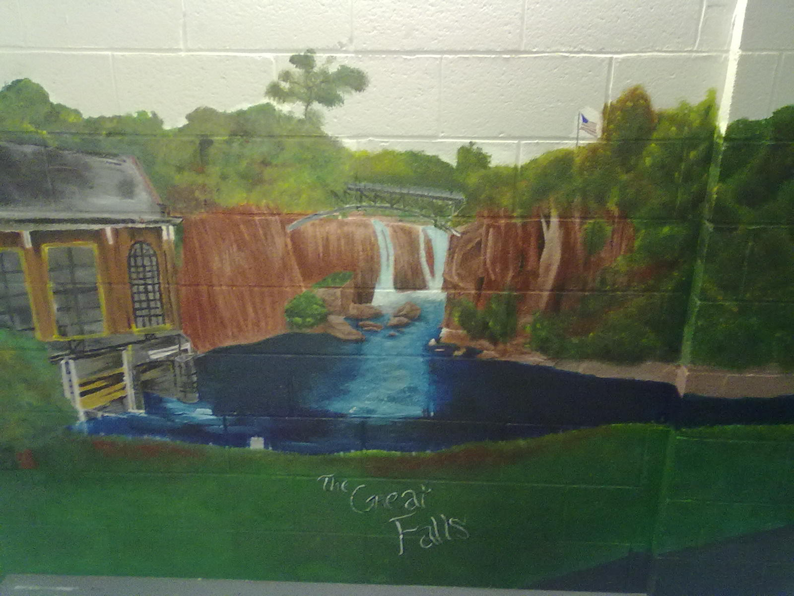 Memorial Day School Mural Painting