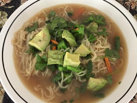 Vegan Ramen Noodles with Veggies