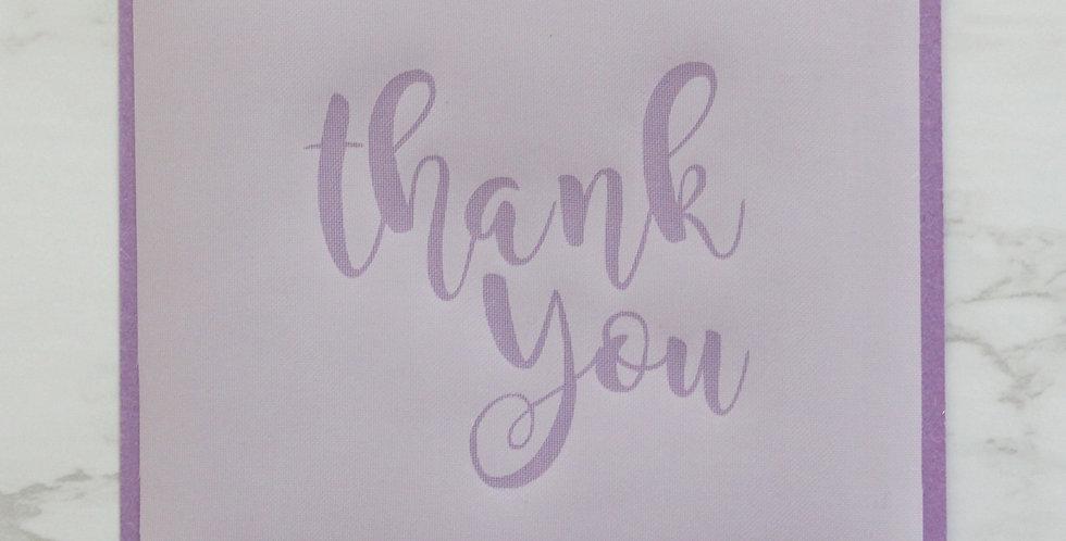 'Thank You' Stencil