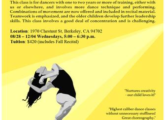 Dance on Center Fall Program - This Wednesday!