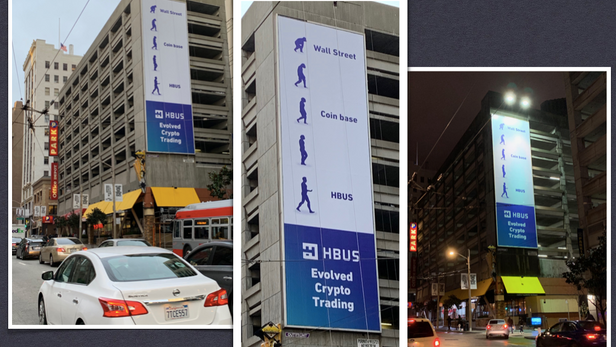 My billboard campaign for a cryptocurrency exchange