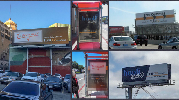 My billboard campaign for Tubi