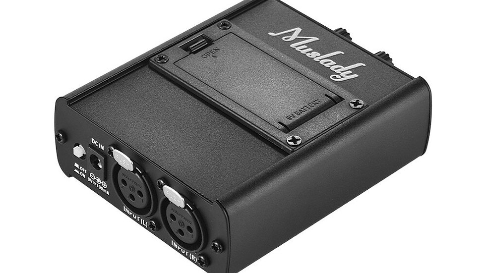Muslady Monitor Headphones Amp With XLR Inputs 3.5mm Output