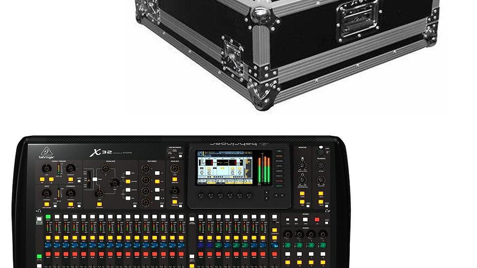 Behringer X32 Digital Audio Mixer Professional DJ Mixing Console + Flight Case