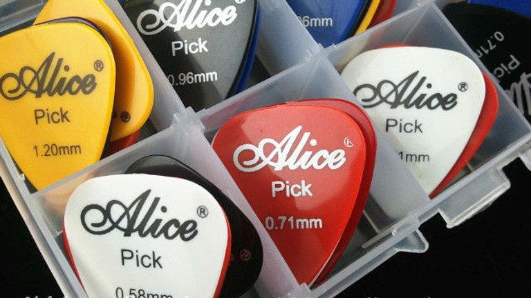 50pcs Acoustic Electric Guitar Picks Plectrums + 1 Plastic Picks Box Case