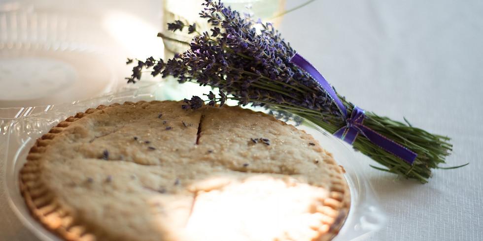 Thanksgiving Lavender Cherry Pie
