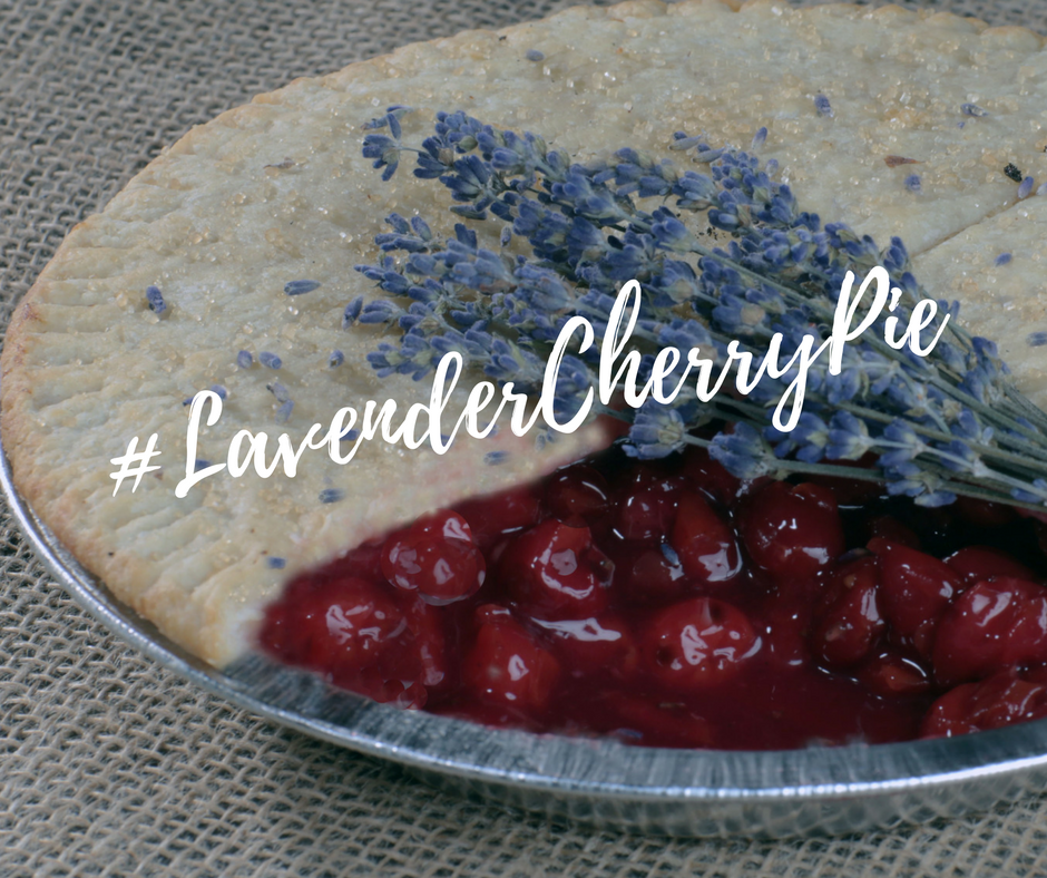 Lavender cherry pie