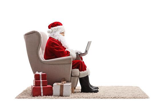 KrisP Production is a Theatre Company Hong Kong Zoom with Santa Sitting Waving