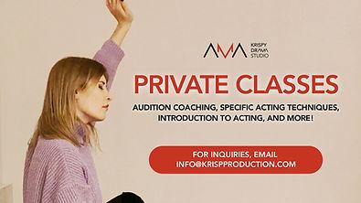 PRIVATE ACTING CLASSES