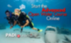 adventure diver course students underwater