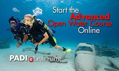 adventure diver course students underwater