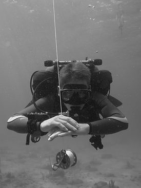 diver with great buoyancy