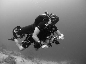 technical diver on the wall