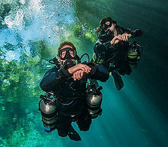 Sidemount Diver in St. Croix
