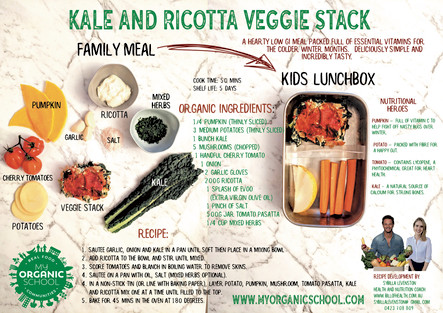 Kale and Ricotta Veggie Stack