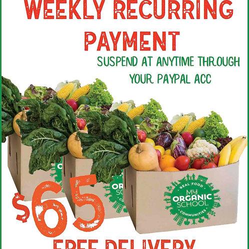 $65 Organic & Veggie box, weekly recurring