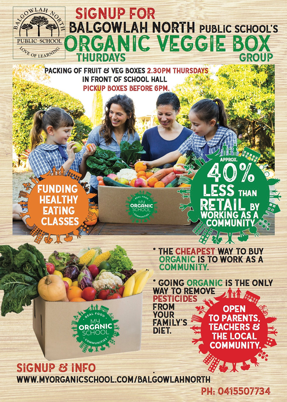 Balgowlah North Vegie box coop flyer sid
