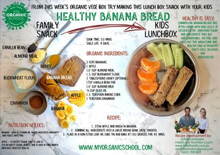 Healthy Organic banana Bread