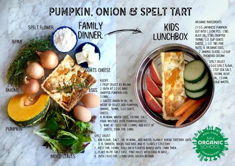 Pumpkin, Onion & Spelt Tart