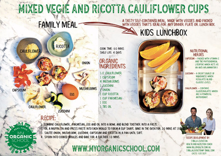 Mixed Vegie and Ricotta Cauliflower Cups