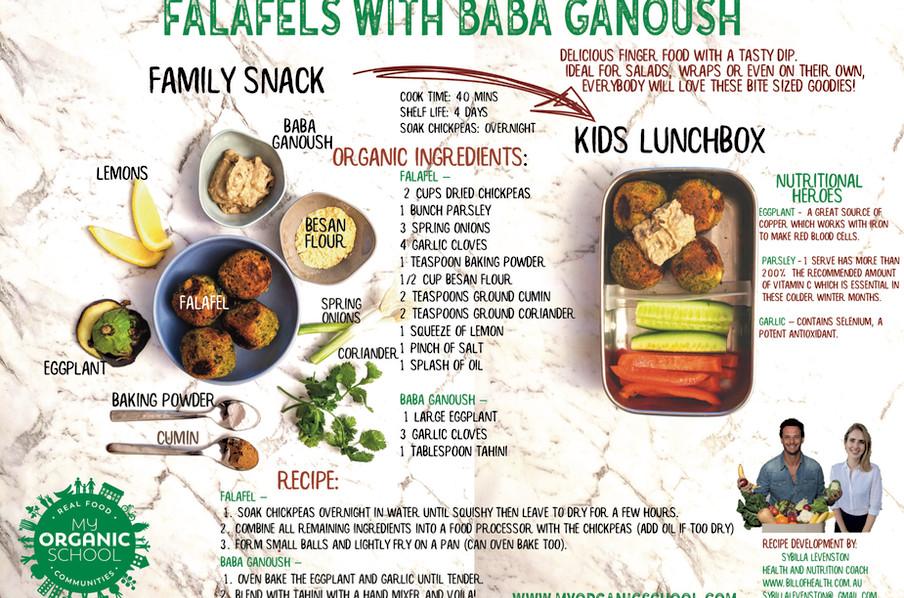 Home Made Falafels with Baba Ganoush