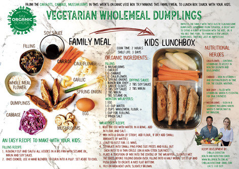 Vegetarian Wholemeal Dumplings