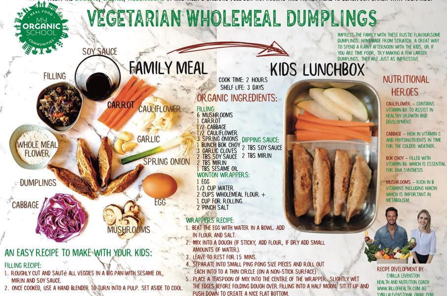 Vegetarian Wholemeal Dumplings