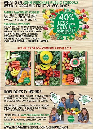 John Purchase school flyer side 2 veggie